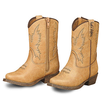 Tan June Toddler Western Boots