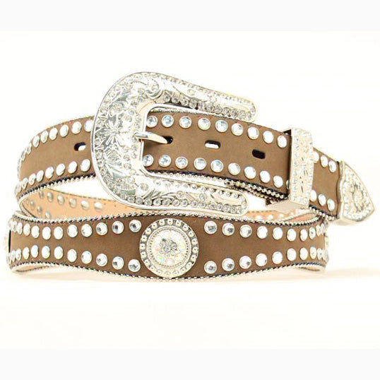 Blazin' Roxx Women's Scalloped Rhinestone Concho Belt