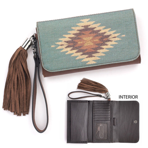 Women's Brown Zapotec Clutch Wallet