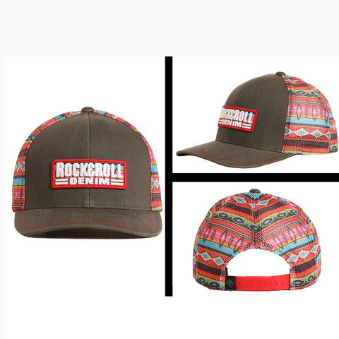 Rock & Roll Brown Aztec Mesh Cap
