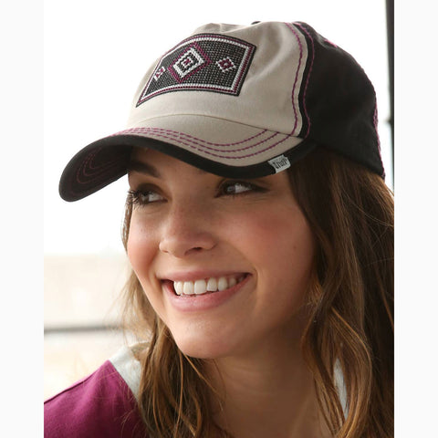 Cruel Girl Women's Navy and Burgundy Aztec Cap