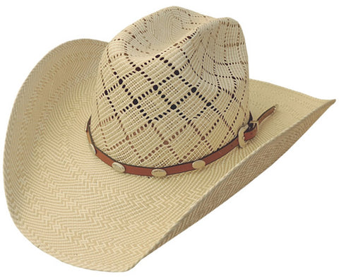 Dallas Hats Beige Shantung Two Tone Charlie