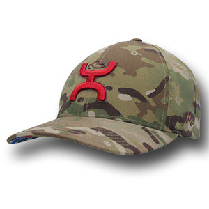 a02cdab1bdd Hooey Chris Kyle Camo with Red Hooey Hands Up Logo Cap