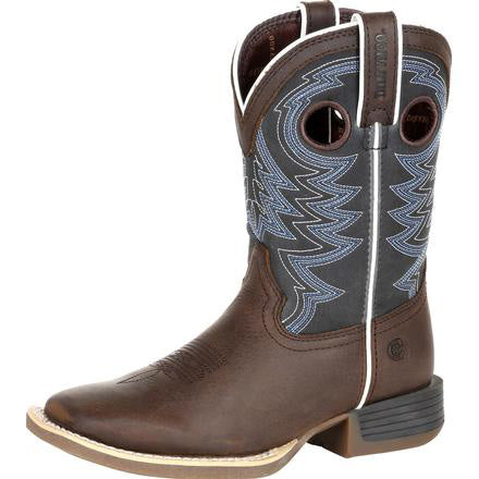 Durango Big Kid's Brown and Navy Square Toe Boot