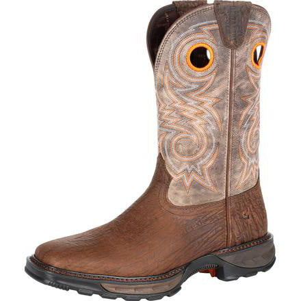 Durango Men's Brown and Steel Cut Oat Composite Square Toe Boot
