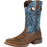 Durango Men's Brown and Blue Ventilate Square Toe Boots