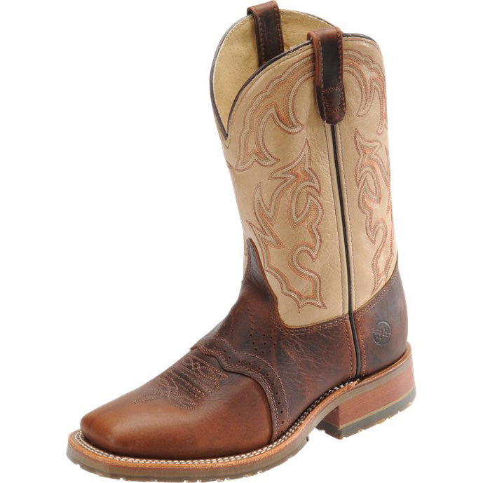 Double H Men's Graham Bison & Taupe Steel Toe Wide Square Toe Roper