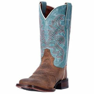 Dan Post Women's Brown and Turquoise Boots