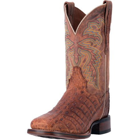 Dan Post Cognac Caiman Square Toe Boot