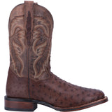 Dan Post Men's Chocolate Full Quill Ostrich Alamosa Square Toe Boot