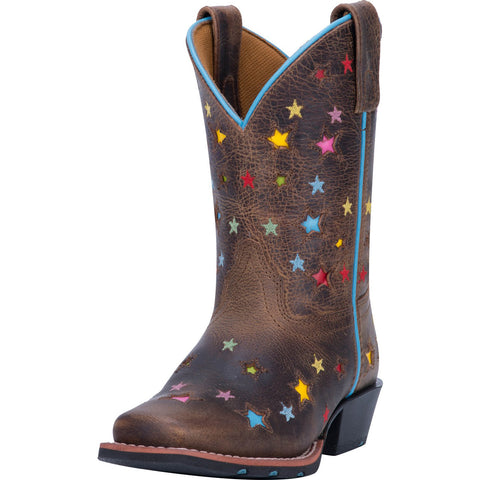 Dan Post Kid's Brown Starlett Square Toe Boot
