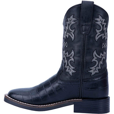 Dan Post Kid's Black Gator Print Boots