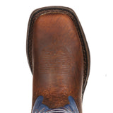 Durango Big Kid Brown & Navy Square Toe Boot