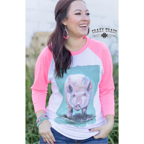 "Crazy Train ""Don't Bacon"" Baseball Tee"