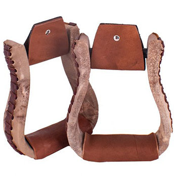 Showman Natural Rawhide Stirrups