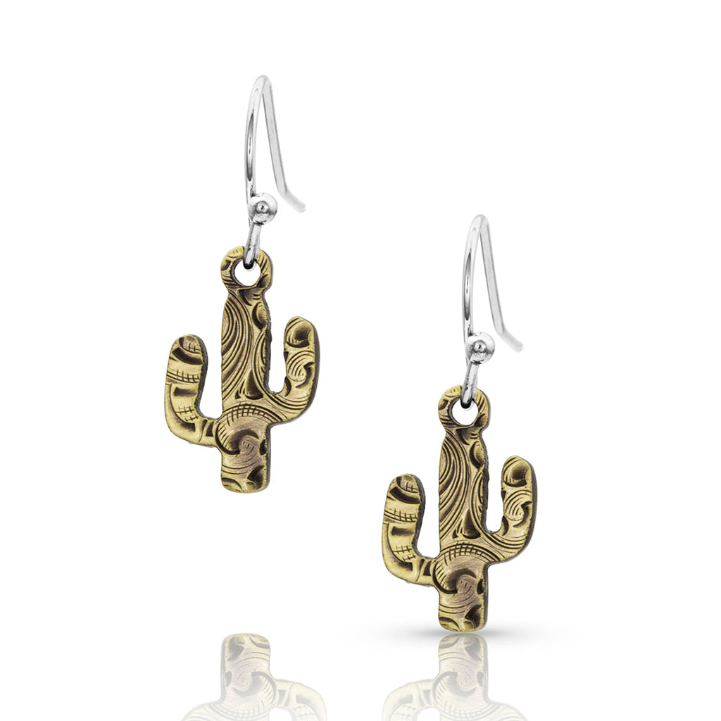 Montana Silver Desert Darling Cactus Earrings