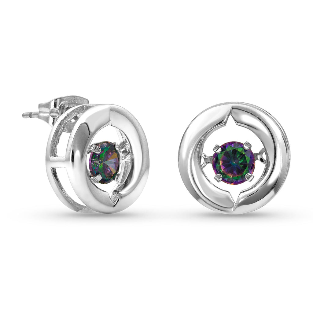 Montana Silver Ring Around A Northern Star Earrings