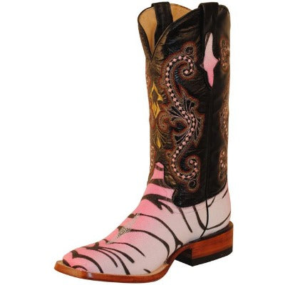 Women's Pink Tiger Stingray Print Boots