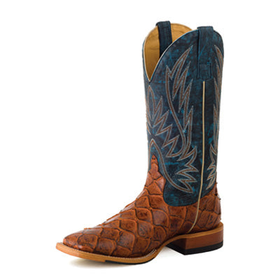 Horse Power Men's Blue Cognac Bass Square Toe Boot