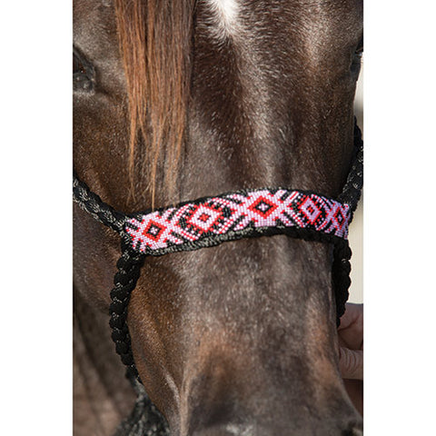 Professional Choice Black Braided Cowboy Halter