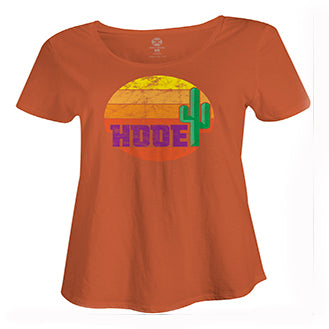Hooey- Orange Cactus Scoop Neck Tee