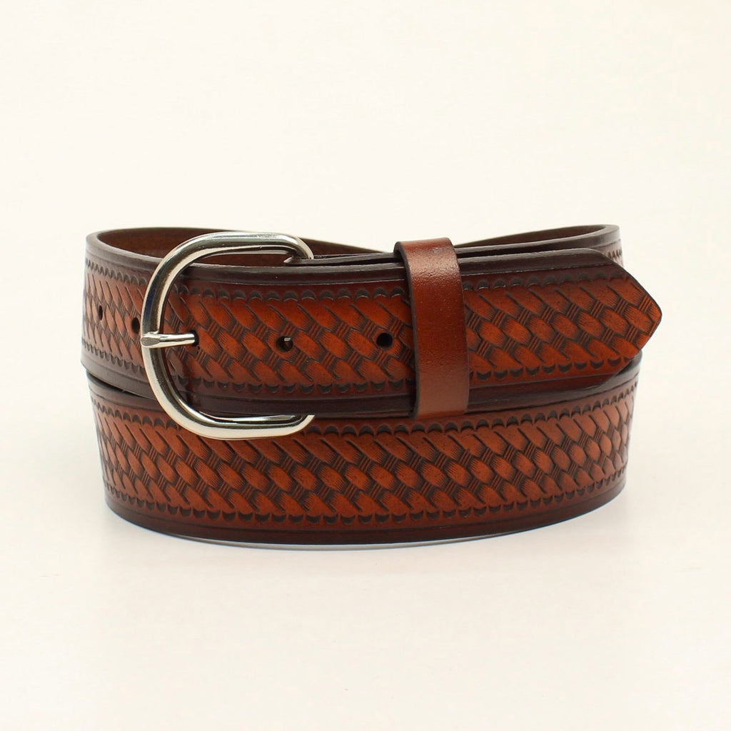 Men's Brown Basket Weave Belt