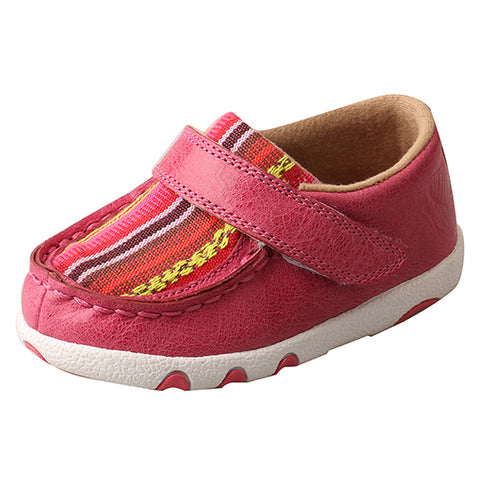 Twisted X Infant Girl's Pink Driving Moc