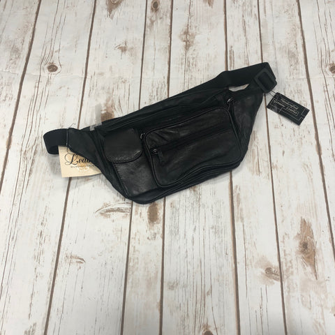 Texas Leather Black Leather Fanny Pack