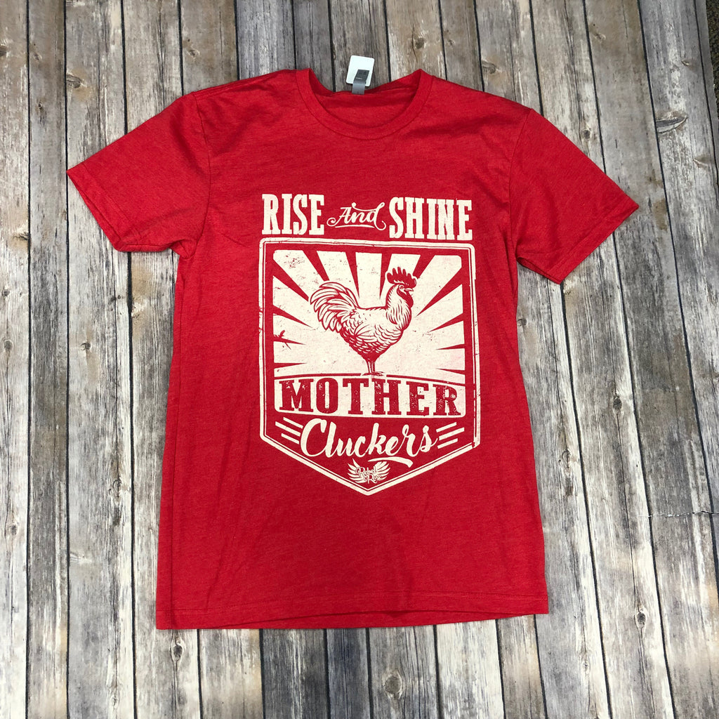 Rebel Rose Red Rise and Shine T-shirt