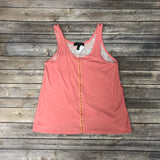 Women's Coral with Multi Design on the Back Tank