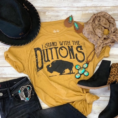 Women's Gold Dutton Tee