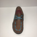 PRE SALE!! ~~ Western Edge Exclusive Twisted X Women's Blue Tooled Barbwire Moc