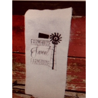 Sweet Farmhouse Windmill Flour Sack Tea Towel