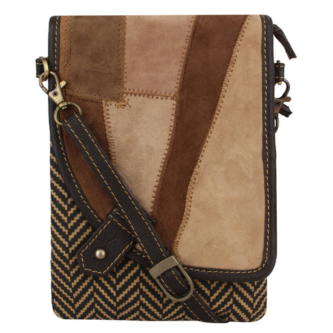 Leather Chevron Noho Blended Cross Body Purse
