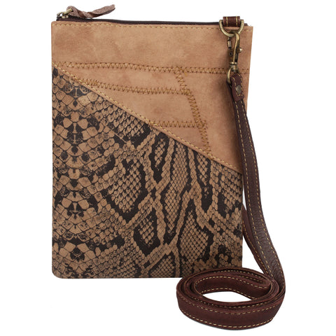 Leather Python Cross Body Purse