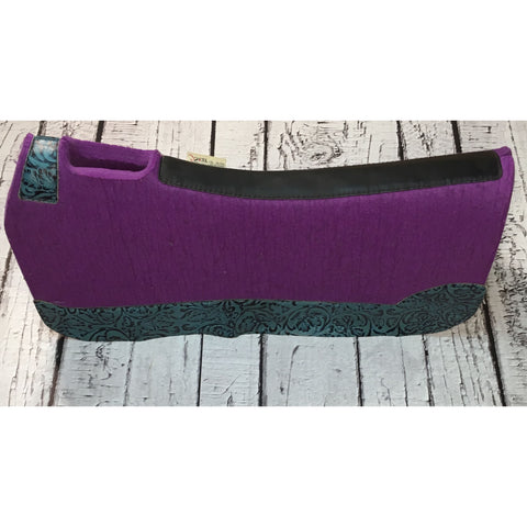 5 Star All Around Saddle Pad - Purple/Teal Tool