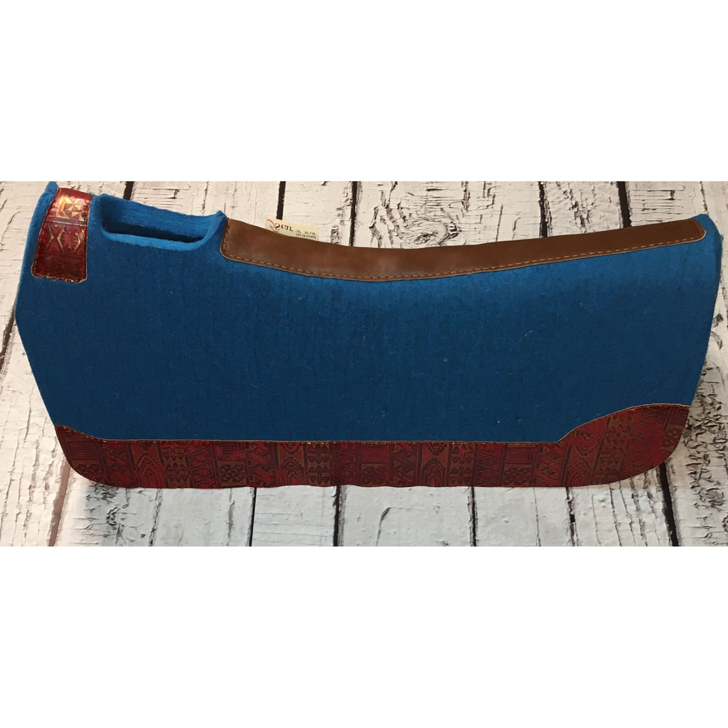 5 Star All Around Saddle Pad - Blue/Red Indiano