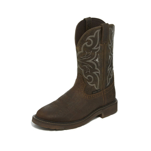 Justin Men's Amarillo Chocolate Steel Toe Boot