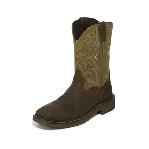 Justin Men's Amarillo Cactus Steel Square Toe Boot