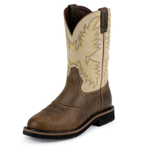 Justin Men's Waxy Brown Roper