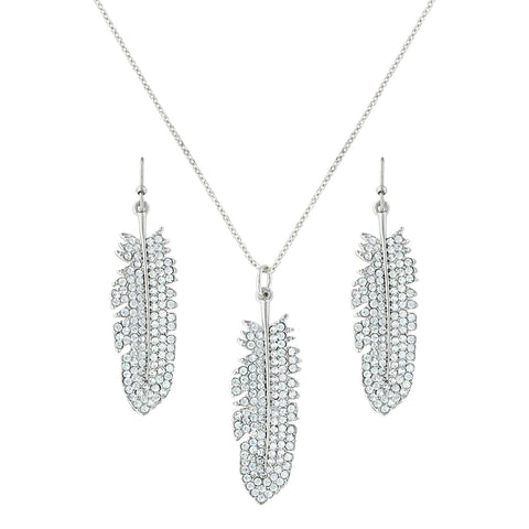 Montana Silver Shimmering Feather Jewelry Set
