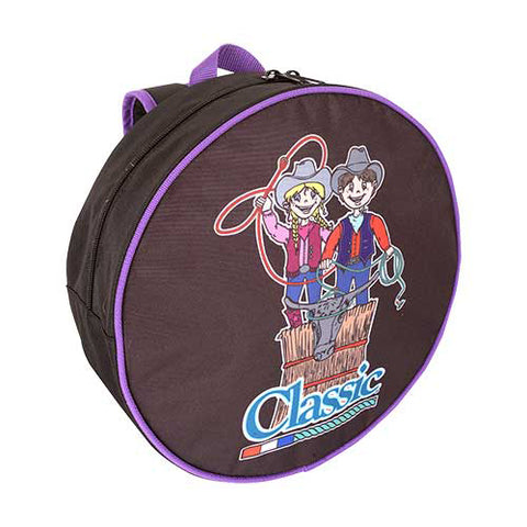 Classic Equine Purple Trimmed Kid Rope Bag