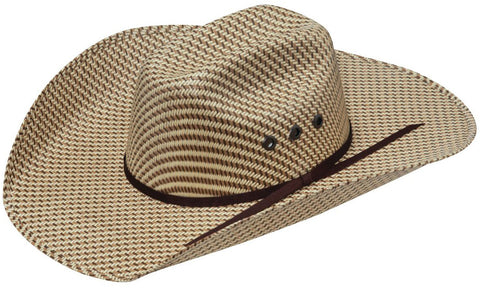Youth Chocolate/Tan Weave Straw Hat