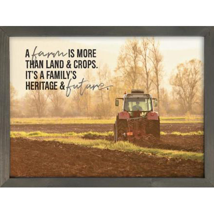 Farming Family Framed Sign