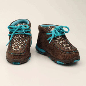 Toddler Chocolate Glitter Cheetah Driving Moc