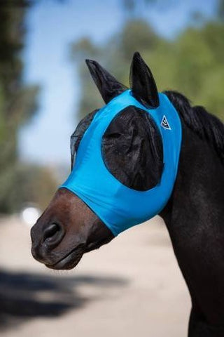 Pacific Blue/Charcoal Pony Comfort Fly Mask