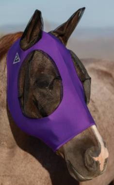 Purple Comfort Fly Mask Small Horse/Cob