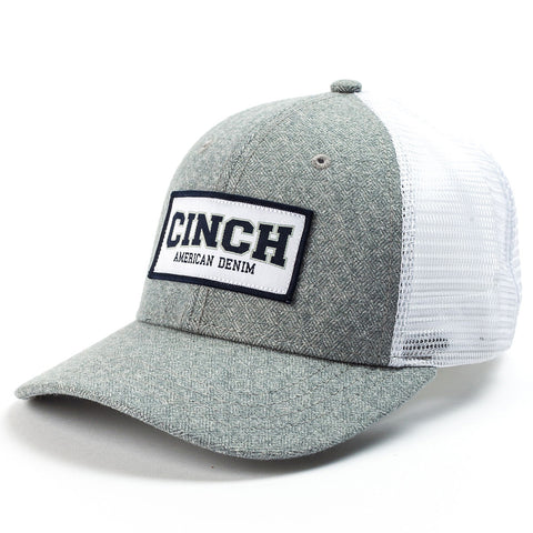 Cinch Grey and White Mesh Cinch Cap