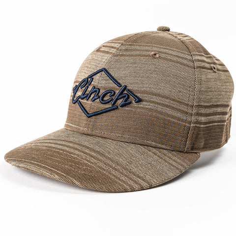 Cinch Men's Brown and Navy Stripe Cap