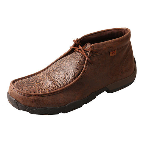 Twisted X Men's Brown Embossed Driving Moc